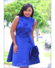 Blue Floral Dress 2