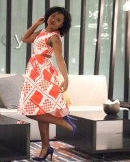 Red Patterned Dress 4